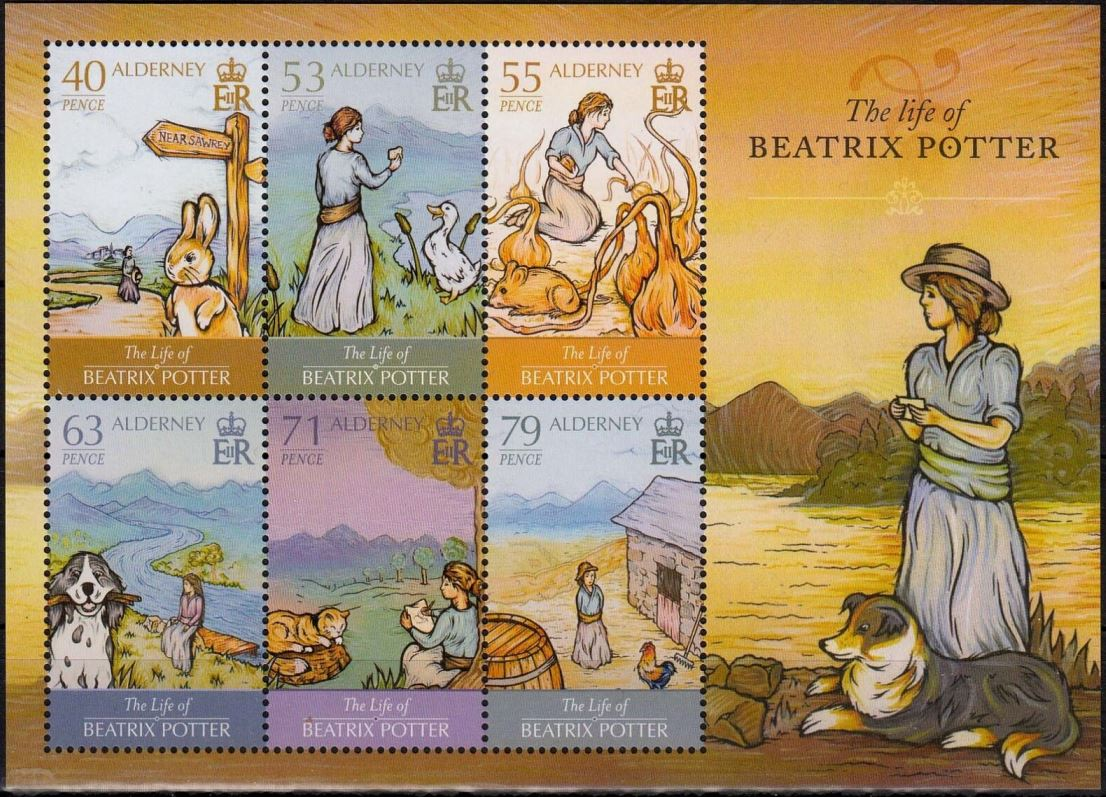 2013 CI-A MSA500 Life of Beatrix Potter Miniature Sht MNH